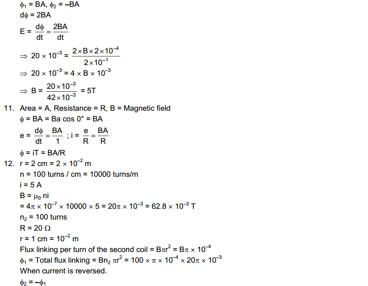 Electromagnetic Induction HC Verma Concepts of Physics Solutions