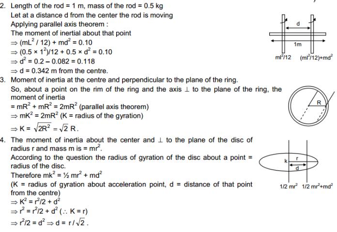 Rotational Mechanics HC Verma Concepts of Physics Solutions