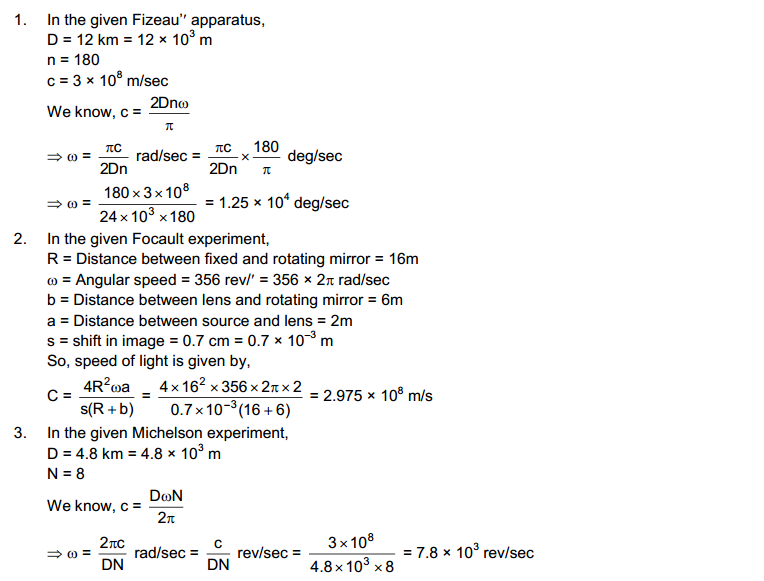 Sound of Light HC Verma Concepts of Physics Solutions