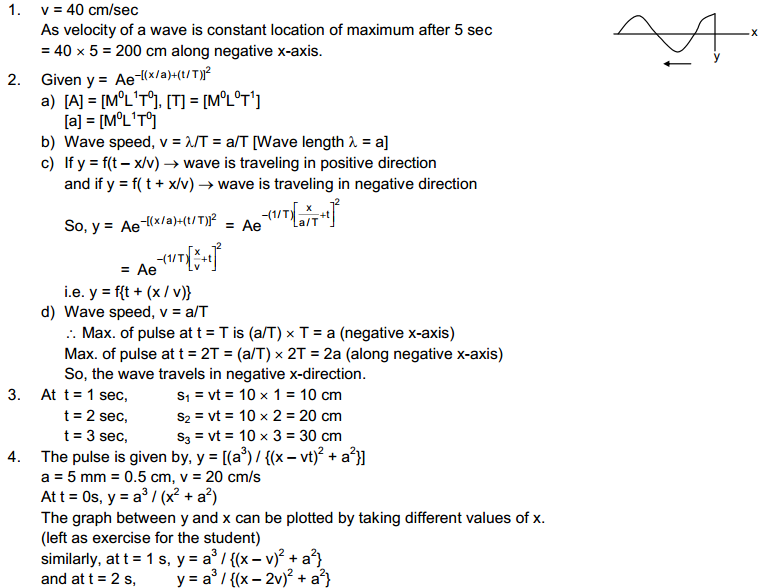 Wave Motion and Waves on String HC Verma Concepts of Physics Solutions