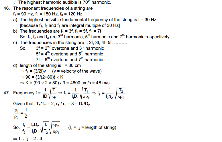 Wave Motion and Waves on String HC Verma Concepts of Physics