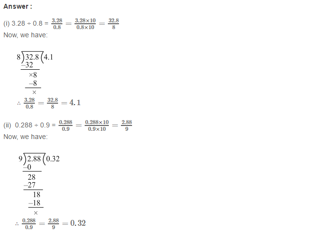 Decimals RS Aggarwal Class 7 CBSE Maths Solutions Exercise 3D