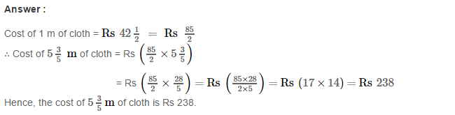 Fractions CBSE RS Aggarwal Class 7 Math Solutions Exercise 2B